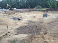 Infiltration Basin during construction