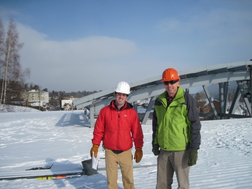 Joe and Tim during construction
