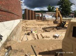 Excavation for parking garage