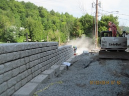 Seawall during construction
